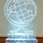 Globe Ice Sculpture