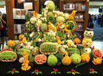 Fruit Carving Display for Giant Eagle