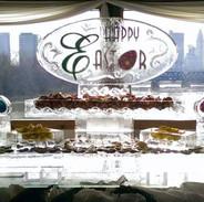 Happy Easter Food Ice Display