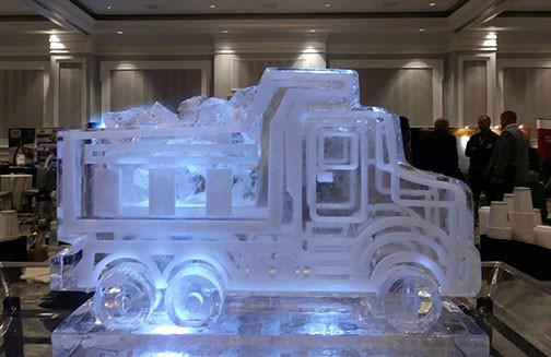 Dump Truck Ice Sculpture