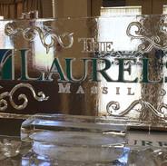 Laurels Logo Ice Sculpture