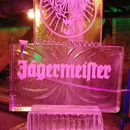 Tube Luge Ice Sculpture Jager
