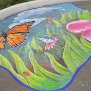 Chalk Drawing Demonstration