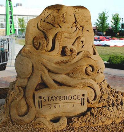 Sand Sculpture Octopus