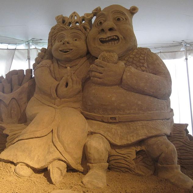 Sand Sculpture of Shrek