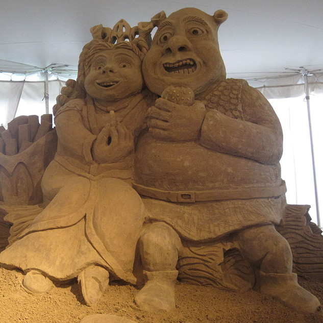 Sand Sculpture of Shrek