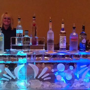 Ice Bar Table Top with Luge