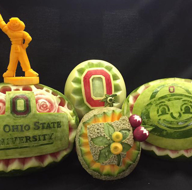 Fruit Carving Ohio State Logo