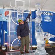 Ice Sculpture Basketball Player
