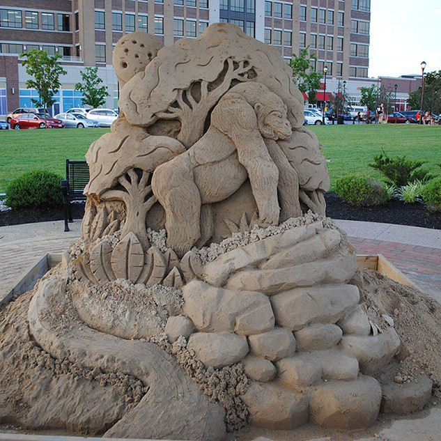 Sand Sculpture Gorilla in Jungle