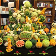 Giant Eagle Fruit Carving Display