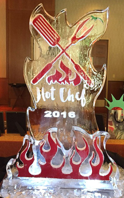 Hot Chef Ice Sculpture
