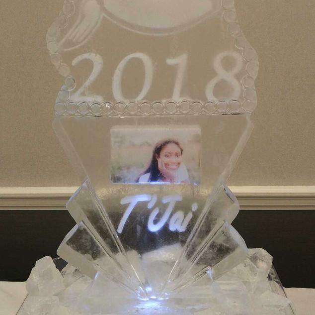 Ice Sculpture Graduation Cap