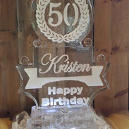 Happy 50th Birthday Ice Sculpture