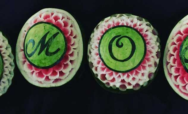 Mom Fruit Carving Display