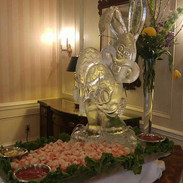 Easter Bunny Ice Sculpture