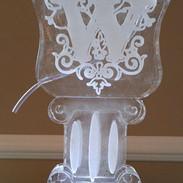 Tube Luge Ice Sculpture