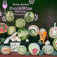 Food Artist Group Fruit Carving Display