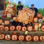 Happy Halloween Pumpkin Display