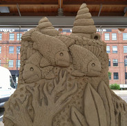 Fish and Coral Sand Carving