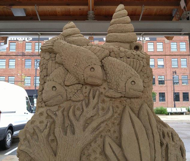 Sand Sculpting Demonstration