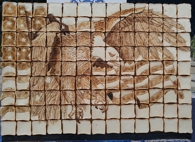 Bread Sculpture Bald Eagle