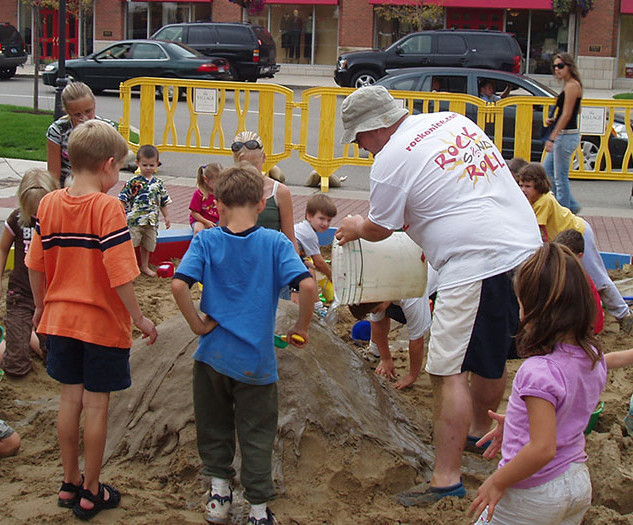 Sand Box with Kids