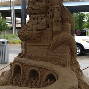 Castle and Dragon Sand Sculpture