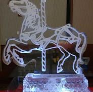 Ice Sculpture Carousel Horse