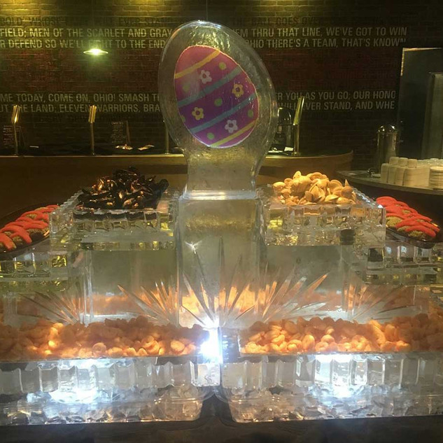 Food Ice Display Colored Easter Egg
