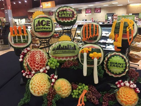 Fruit Carving display for Ace Hardware