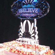 iBelieve Logo Ice Sculpture