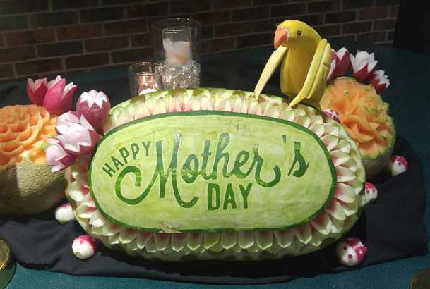 Mother's Day Watermelon Carving