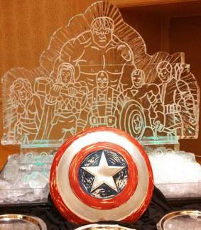 Avengers Ice Sculpture