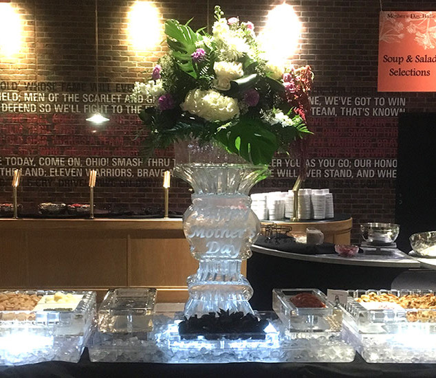 Mother's Day Ice Display with Seafood