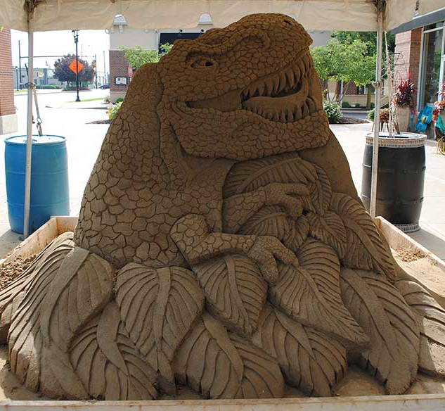 Sand Sculpture of T-Rex