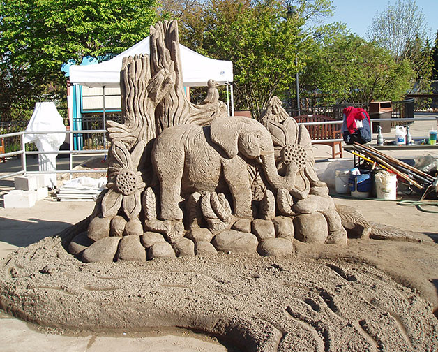 Sand Sculpture Elephant