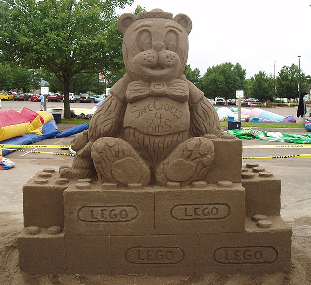 Teddy Bear Sand Sculpture