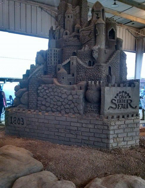 Ohio State Fair Sand Carving Demonstration