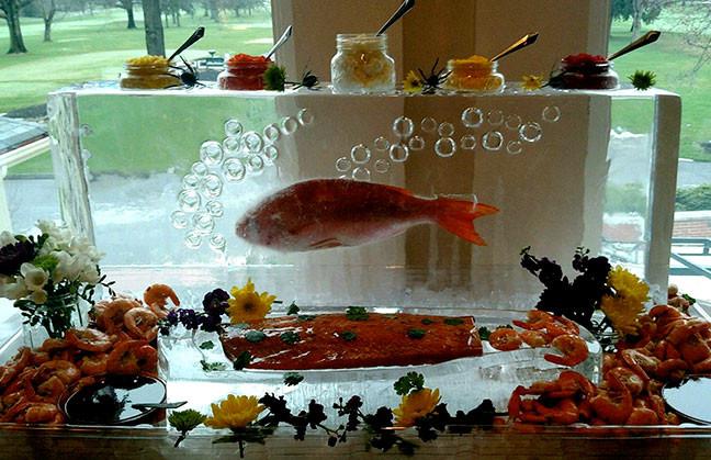 Frozen Fish Seafood Display