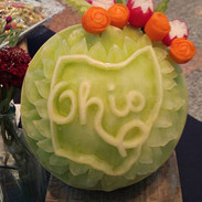 Fruit Carving State of Ohio