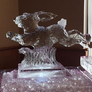Hopping Bunny Ice Sculpture