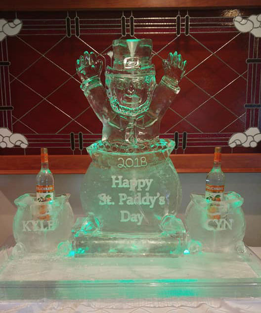 Themed-Ice-Sculpture-St.-Patrick's-Day-2