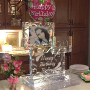 Ice Sculpture with Photo