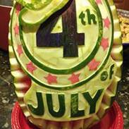 Food Art 4th of July Watermelon