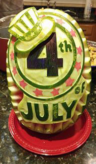 Food Art 4th of July Watermelon