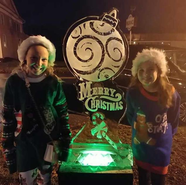 Ornament Ice Festival Sculpture