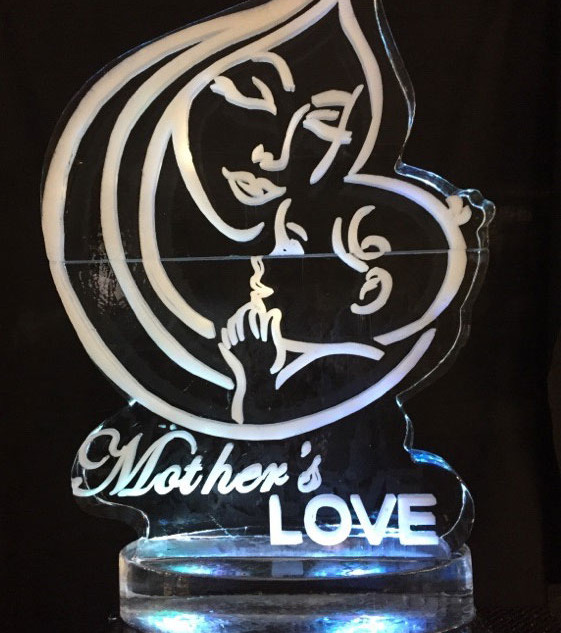 Mother's Love Ice Sculpture