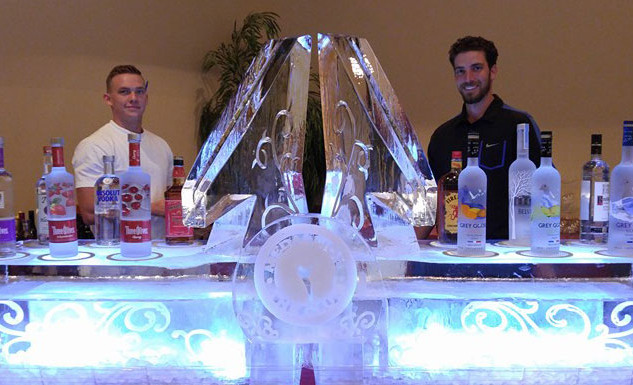 Ice Bar- able Top with Double Ice Luge