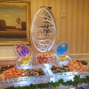 Food Ice Display Happy Easter